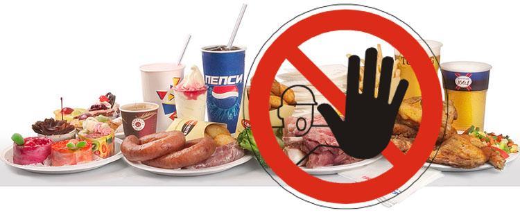 Опасные для здоровья продукты