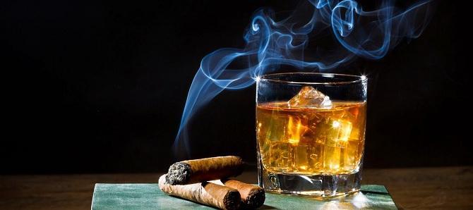 Сигары и виски